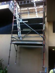 hung scaffold